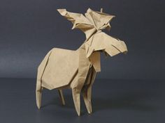 Origami moose! I will definitely try this!