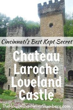 """Cincinnati's Best Kept Secret - Chateau Laroche (Loveland Castle) - The """"Rock Castle"""" on the Little Miami River Places To Travel, Travel Destinations, Places To Go, Family Adventure, Adventure Travel, Travel With Kids, Family Travel, Loveland Castle, Midwest Vacations"""
