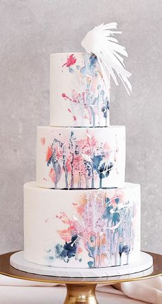 Need some inspiration for your cake design? Which style of cake should you choos… Need some inspiration for your cake design? Which style of cake should you choose? What should it taste like? The wedding cake style will… Types Of Wedding Cakes, Pretty Wedding Cakes, Black Wedding Cakes, Unique Wedding Cakes, Wedding Cake Designs, Unique Weddings, Wedding Themes, Wedding Colors, Wedding Ideas
