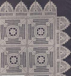 Vintage Crochet Pattern Motif Bedspread Meadow Daisy