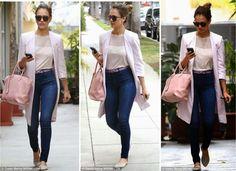 Jessica Alba in My Tribe awwwsoomeee!! tank top n Knee length jacket.. Must have!! <3