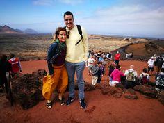Climbing volcanoes in Lanzarote