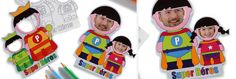 Créer des magnets super héros avec la photo de papa avec Wesco Family