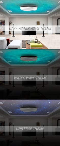 Water Wave Air Conditioner - Design by Min Seong Kim. Really like the addition of ceiling light projection   #creative #airconditioner #design
