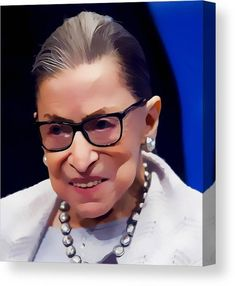 Ruth Bader Ginsburg Canvas Print featuring the mixed media Notorious Ruth Bader Ginsburg by Marvin Blaine