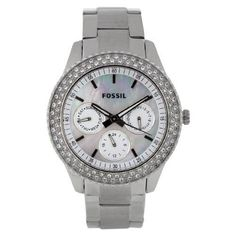 Montre pour femme : Fossil Women's ES2860 Stainless Steel Analog with Silver Dial Watch | WatchC