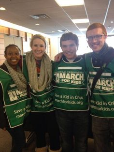 These four students helped out at the Mercy Home in Chicago during their 2014 Alternative Spring Break trip