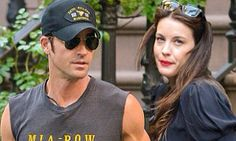 Taking him to meet dad! Justin Theroux and The Leftovers co-star Liv Tyler head to Aerosmith concert in New York Aerosmith Concert, Justin Theroux, Live Taylor, Dads, Mens Sunglasses, Hollywood, Meet, York, Star