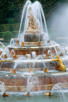 Fountain At Chateau De Versailles, France by Clive Nichols
