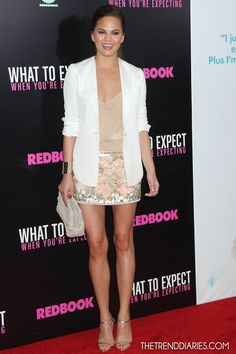 Christine Teigen at the 'What To Expect When You're Expecting' Screening at AMC Lincoln Square in New York City, New York - May 8, 2012