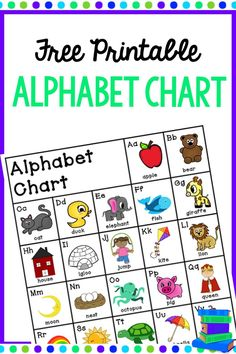 Grab This FREE Printable Alphabet Chart For Your Classroom Use In Students Writing Folders