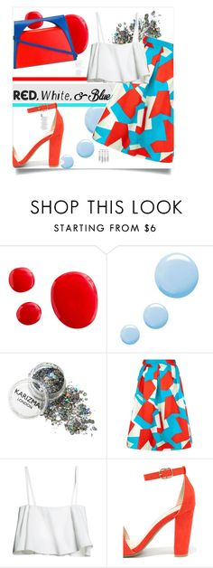 """Untitled #287"" by tellmeverything ❤ liked on Polyvore featuring Topshop, Traffic People, Bamboo, J.W. Anderson, redwhiteandblue and july4th"