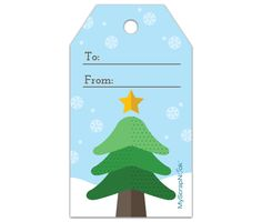 Download this Christmas Tree Gift Tag and other free printables from MyScrapNook.com