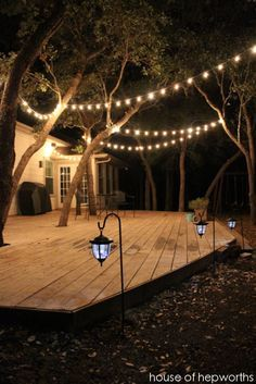 Add outdoor mood lighting for a big impact. Tips and info at www.houseofhepworths.com?utm_content=bufferd3480&utm_medium=social&utm_source=pinterest.com&utm_campaign=buffer.