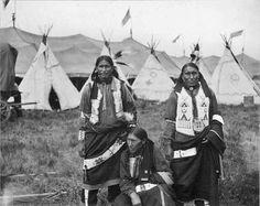 Brave Eagle, Black Whistle, Black Horse. 1907 Oglala Sioux