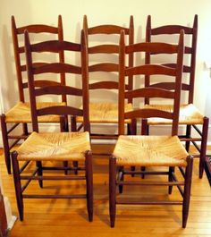 Chicago: Ladderback Chairs (delivery possible) $150 - http://furnishlyst.com/listings/363735