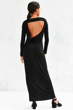 Silence + Noise Open-Back Long-Sleeve Maxi Dress - Urban Outfitters