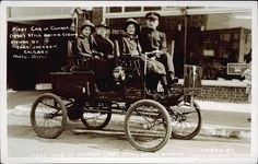 Postcard 6026: Oliver, First car in Canada (1896) still going strong, owned by Chas. Jackson, Calgary. (cca. 1896)