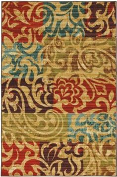 Amazon.com: Townhouse Rugs Carnival Multi 5-Feet by 8-Feet Area Rug: Home & Kitchen