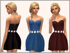 Set of 3 skater dresses for everyday and formal wear  Found in TSR Category 'Sims 4 Female Everyday'