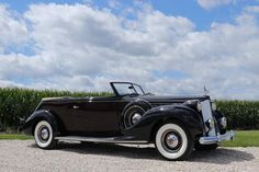 1938 Packard 12 ..... (photos from Dave Mitchell's Facebook page)