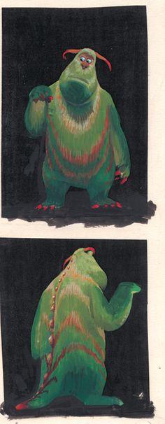 "Visual development art, ""Monsters, Inc."" http://rainbow-hammock.tumblr.com/page/13 ★ ||"