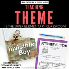 FREE Theme Printables (Anchor Charts, Mentor Texts, Practice Pages) - Use this freebie with your 3rd, 4th, 5th, or 6th grade classroom or homeschool students to master theme. You get three printable determining theme anchor charts, text recommendations, printable practice page worksheets, and more. Click through to grab your free download now! (third, fourth, fifth, sixth graders, upper elementary, intermediate grades) #YoungTeacherLove
