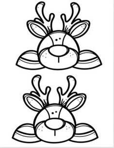 Homophones Craft- Dear Deer by Precious In Primary -Miss Sunshine Christmas Signs, Christmas Holidays, Creative Clips, Coloring Sheets, Coloring Pages, Christmas Cards Drawing, Santa's Little Helper, Nouvel An, Felt Diy