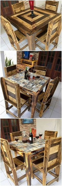For Your Household Purposes This Is An Inexpensive And Simple Idea Of The Wood Pallet Dining Table Furniture Concept View Out In A