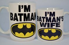 Wedding Gift Wedding Present Newly MarriedBatman by TheMugLoft