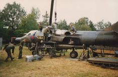 A 4Sqn Harrier GR.3 XV810 during an engine change. Germany 1980's