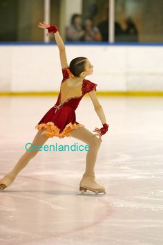 Tia design spanish dress on ice. U.S.A customer. www.greenlandice.co.uk