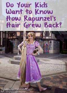 The secret to how Rapunzel grew her hair back after cutting it off in the movie Tangled.