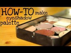 DIY EYESHADOW PALETTE ▶ How to Make Your Own Z-Palette/Magnetic Shadow Palette! + My Favourite Eyeshadows of the Moment - YouTube :: MINT TIN + Magnetic tape + eyeshadows = BEST IDEA EVER!!