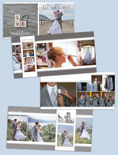 Wedding Album Template: Forever 10x10 by LaurieCosgroveDesign