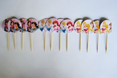Disney Princess Cupcake Toppers by ChocRain on Etsy, $5.00