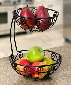 Loving this Scroll Arched Two-Tier Fruit Server on #zulily! #zulilyfinds