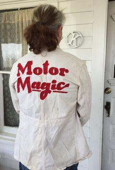 Vintage 1950s Mechanic Racing Jacket Sz 40 Embroidered Motor Magic Grease Monkey Rockabilly by Holliezhobbiez on Etsy