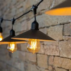 Guirlande extérieure E27 10 ampoules blanc chaud 96 Lumen Vinty light LUMISKY | Leroy Merlin Ceiling Lights, Lighting, House, Outdoor, Leroy Merlin, Home Decor, Products, Gardens, Floor Lamps