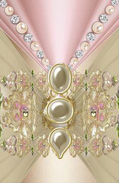 Pink & Cream Wallpaper...By Artist Unknown...