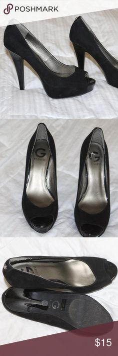Guess black heels Open toed black heels by Guess Shoes Heels