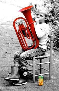 PoP! Red Tuba...Apple Juice..♥