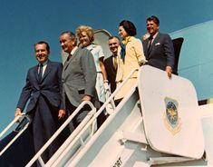 Richard Nixon, Lyndon Johnson & Ronald Reagan with their wives.