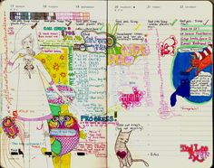 Using a Moleskine planner in a more creative way. ...