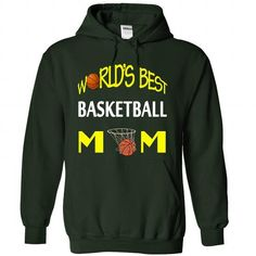 Worlds Best Basketball Mom T Shirts, Hoodies, Sweatshirts. GET ONE ==> https://www.sunfrog.com/Funny/World-Forest-30448296-Hoodie.html?41382