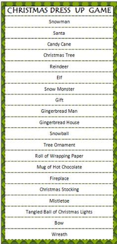 Christmas Dress Up Game #FreePrintable #Christmas