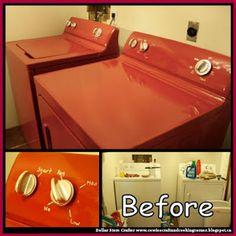 Dollar Store Crafter: Makeover A Washer And Dryer Using Appliance Epoxy ...