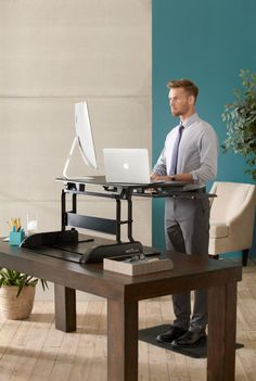 Energise your day with a VARIDESK standing desk solution Sit Stand Desk, Desk Accessories, Summer 2015, Home Decor, Awesome, Desktop Accessories, Decoration Home, Room Decor, Interior Design