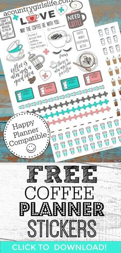 Looking for free printable planner stickers? Need some stickers for your Mambi Happy Planner or Erin Condren but it's just not in the budget? Check out our cute, functional coffee themed FREE printabl Planner Free, To Do Planner, Printable Planner Pages, Printable Planner Stickers, Happy Planner, Planner Ideas, Monthly Planner, Stickers For Planners, Planner Diy
