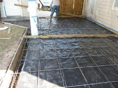 poured concrete patio and retaining wall | Backyard Inspiration ...